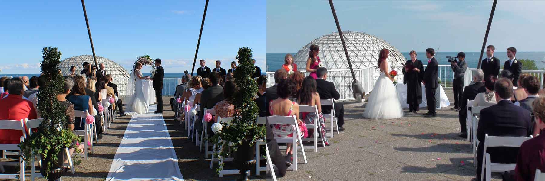 Rooftop Wedding Ceremony at Atlantis Pavilions