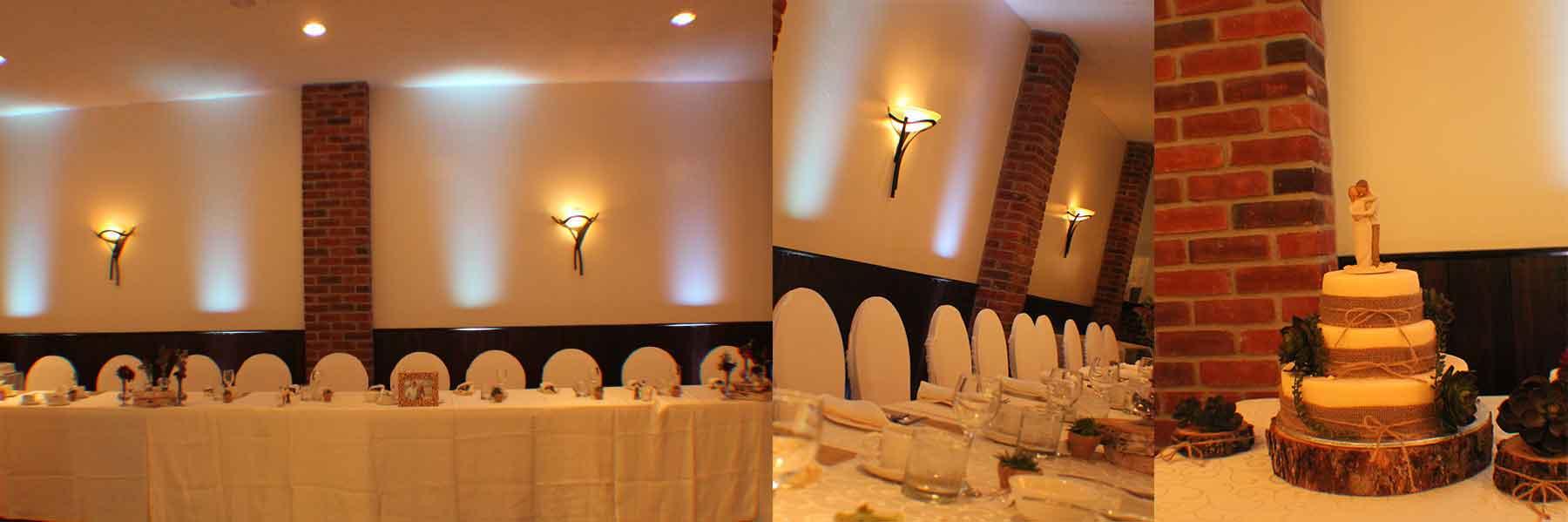 Uplighting at Fantasy Farm Wedding